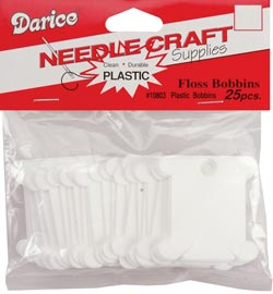 click here to view larger image of Darice Plastic Floss Caddy Bobbins - 25 (accessory)