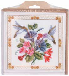 click here to view larger image of Hummingbird Hot Plate  (stitchable)