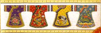 click here to view larger image of Kimono Row  (counted cross stitch kit)