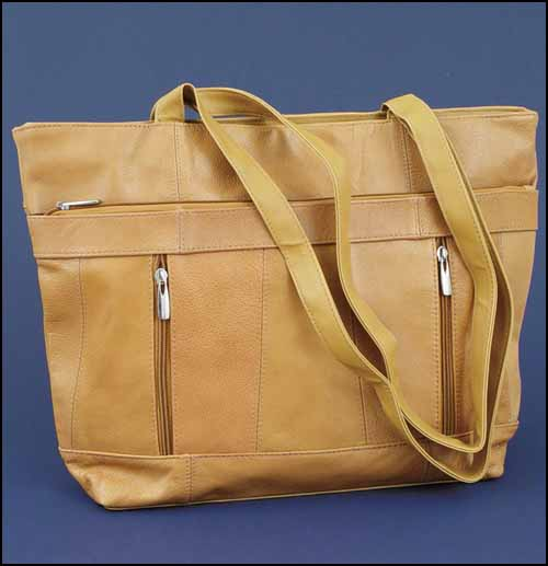 click here to view larger image of Tan Leather Organizer Bag (accessory)