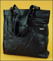 click here to view larger image of Black Leather Tote Organizer (accessory)