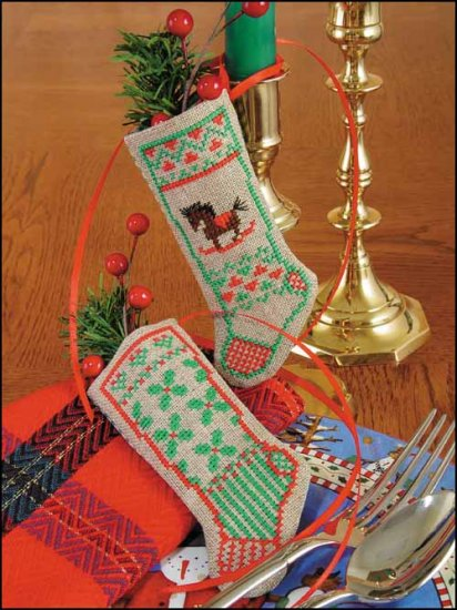 click here to view larger image of Hobby Horses & Holly (counted cross stitch kit)