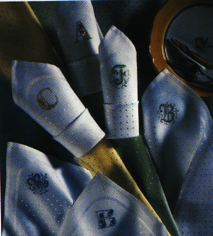 click here to view larger image of Zweigart - Damask Napkins - Sonate (14ct) - White (stitchable)
