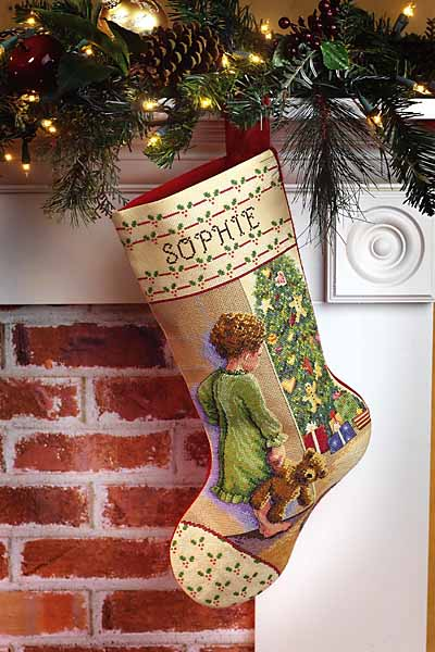 click here to view larger image of Christmas Morning Stocking (counted cross stitch kit)