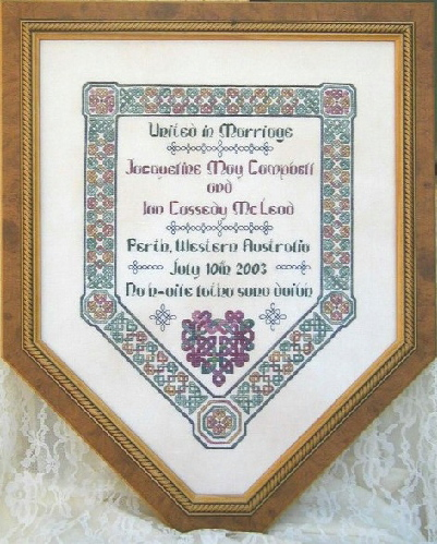 click here to view larger image of Celtic Wedding Sampler (chart)