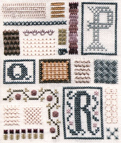 click here to view larger image of Sampler of Stitches - Part Six - PQR (chart)
